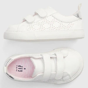 Baby Gap Faux Leather Eyelet Sneakers